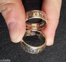 HANDFASTING  RING STERLING SILVER size 5 - 13 inc HALF SIZES. WEDDING COMMITMENT