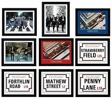 THE BEATLES - Framed Collector Prints 15x20 (Licensed Hi-Resolution Artwork)