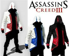 NWT Assassins Creed 3 Conner Kenway Jacket/Hoodie/Coat/Cap/Cloak Cosplay Costume