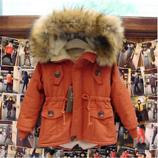 HOT Children Winter Warm Thick Hooded Coat Zip Jacket Baby Kid Padded Outerwear