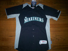 ICHIRO SUZUKI SEATTLE MARINERS NEW MLB MAJESTIC AUTHENTIC COOL BASE KIDS JERSEY