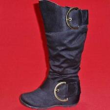 NEW Girl's Youth SODA NATALIE Black Zip Buckles Fashion Tall Casual/Dress Boots
