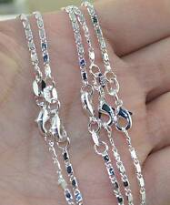 """Wholesale 5PCS 925 Sterling Silver 2MM Anchor Chain Necklace 16""""-30"""""""