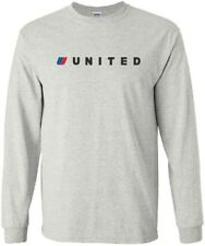 United '98-'10 Small Tulip Logo US Merged Airline Long-Sleeve T-Shirt