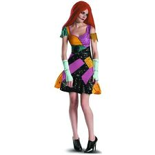 Sally Costume Adult Nightmare Before Christmas Rag Doll Halloween Fancy Dress