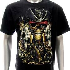 sc123 Sz M L XL XXL Survivor Chang T-shirt Tattoo Skull Glow in Dark Pirate Evil