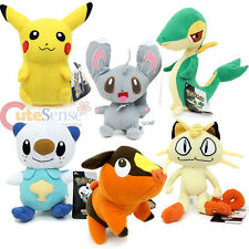 "Nintendo Pokemon Plush Doll Collection Soft Stuffed Toy 8"" Pickachu Tepig Snivy"