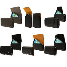 Premium Belt Clip Pouch Holster Leather Case for Cell Phones