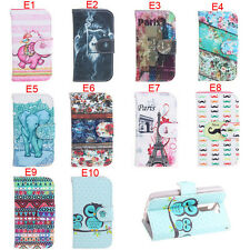 Wallet PU Leather Flip Case Cover Stand For Various Samsung Galaxy Apple iPhone