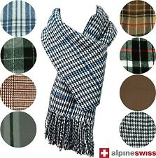 Classic Winter Scarf Soft Neck Wrap Stole Cowl Shawl Men Women Plaid Scarves New