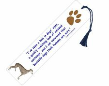 Greyhound - dog bookmarks - free uk pp