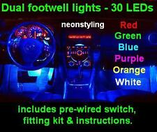 LED Interior Footwell Lights Vauxhall VXR Corsa C / D Irmscher SXI SRI Twin Port