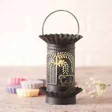 ELECTRIC WAX WARMER Handmade tart Burner SHEEP & WILLOW  TREE Punched Tin Scent