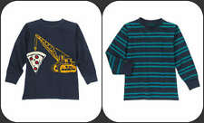 Gymboree NWT Boys Cotton Henley Tees: Pizza Crane and Striped  Sz 12 EACH SOLD S
