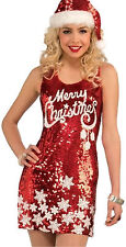 RACY RED MERRY CHRISTMAS DRESS Red Sequin Merry Christmas Dress fnt
