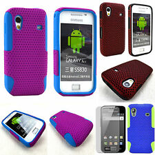 Samsung Galaxy Ace GT- S5830 Hybrid 2-Piece Silicone Hard Case Cover + Film