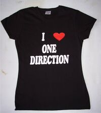 Girls/Teenager I Love One Direction Fitted T-Shirt Black/White Clearance