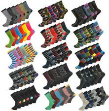 6 PAIRS MENS COLOURED DESIGN SOCKS SMART SUIT GOLF COTTON BLEND ADULTS SIZE 6-11