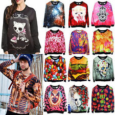 Men Women Space Galaxy T-shirt sweater Sweatshirt hoodie Pullover Tops Tracksuit