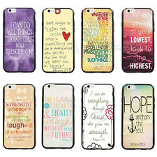 PhilIppians 4:13 Bible Verse Quote TPU Bumper Hard case For iPhone 6 4.7/5.5''