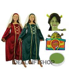 GIRLS TUDOR PRINCESS SET FANCY DRESS COSTUME KIDS CHILDS SHREK OGRE