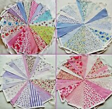 Fabric Bunting Wedding Vintage Shabby & Chic Handmade Floral Lace 3/10/20/40ft