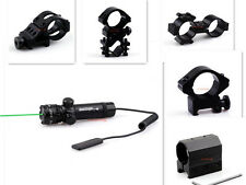 Tactical Green Laser Sight w/ Pressure Switch & 25mm Ring Tube mount 20mm Rail