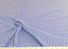 Discount Fabric Cotton Blue and White Gingham Plaid CO2