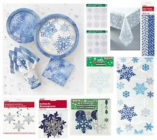 Christmas SNOWFLAKES Xmas Party Tableware Range - Partyware Decorations (Frozen)