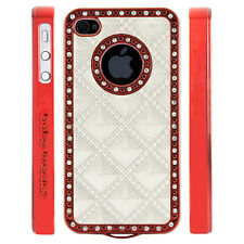Gem Crystal Rhinestone White 3D Diamond Pyramid Case For Apple iPhone 5 5S 5G