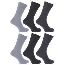 (Free PnP) FLOSO Mens Ribbed Non Elastic Top 100% Cotton Socks (Pack of 6)