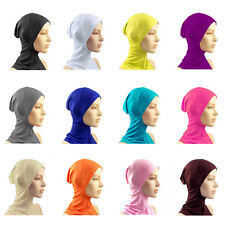 NEW Hijab Islamic Head Wear Under Scarf Hat Cap Bone Bonnet Neck Chest Cover J13