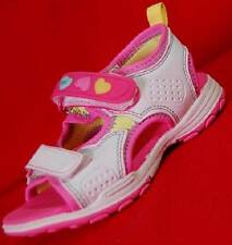 NEW Girls Toddlers CARTER'S HEARTY LIGHTS Pink/White Velcro Casual Sandals Shoes