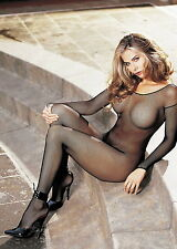 Sexy Seamless Fishnet Open Front Full Bodystocking Lingerie Adult Women