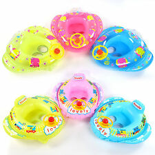 Inflatable Toddler Baby Kids Swimming Ring Seat Air Float Boat Swim Pool Toy