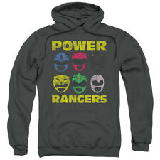 Power Rangers Mighty Morphin Heads Licensed Adult Pullover Hoodie S-3XL