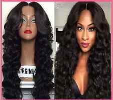 100% curly Wave Virgin Brazilian Human Hair Lace Front Wig/full lace wig 12-28""