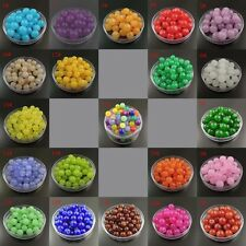4mm 6mm 8mm Multi-Colors Round Glass Beads With Holes Jewelry Findings