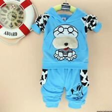 Hot!Baby Girl Boy Children's Kids' Clothes Cotton suit top+pant (for 0~3 years)