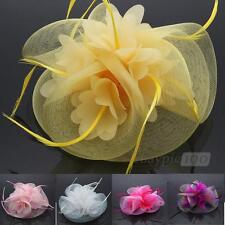 Women's Feather Cloth Hair Clip Mini Cap Hat Fascinator Party Fashion