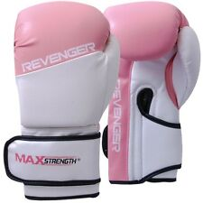MAXSTRENGTH Ladies Pink Boxing Gloves Women Punch Bag Girl Fight Training Mitts