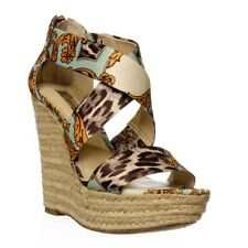 I. Pineapple Wedge Sandal - Blue Multi
