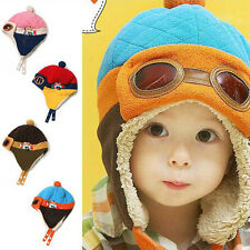 New Winter Baby Toddlers Girls Boys Kids Pilot Aviator Cap Warm Soft Beanie Hat