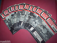 1971/72 - BRISTOL CITY HOME PROGRAMMES CHOOSE FROM