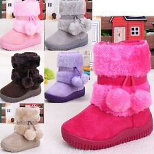 LOVELY Baby Kid Girl Toddlers Infants Winter Snow Keep Warm Crib Shoes Fur Boots