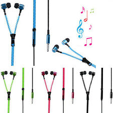 Hot Sale 3.5 mm In-ear Zip Stereo Hands-free Headphone Earphone Earbud + Mic