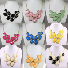 Fashion Women Gothic Bubble Bib Party Crystal Gem Charm Statement Necklace FREE