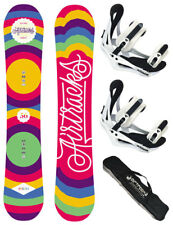 AIRTRACKS Snowboard Set:Board Pinto+Softbinding Savage W+SB Bag /144 150 156 cm/