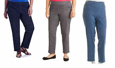 NEW Just My Size Womens Plus Pull-On Stretch Woven Pants Denim JM3950 FREE SHIP