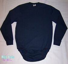 Adult Baby WEAR2WORK Navy or Gray long sleeve OneSuit *Big Tots by MsL
